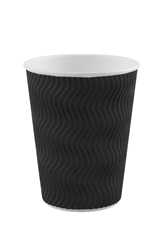 12oz Black S Ripple Cup