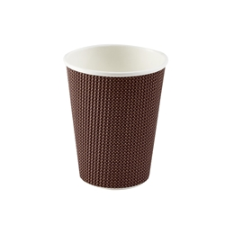 12oz Exclusive Ripple Cup - Brown