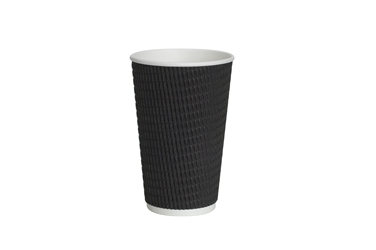 16oz Black Ripple Cup