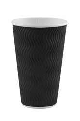 16oz Black S Ripple Cup