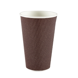 16oz Exclusive Ripple Cup - Brown