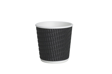 4oz Black Ripple Cup