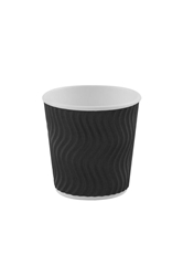 4oz Black S Ripple Cup