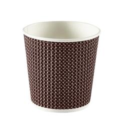 4oz Exclusive Ripple Cup - Brown