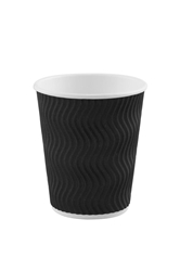 8oz Black S Ripple Cup