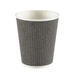 8oz Exclusive Ripple Cup - Black