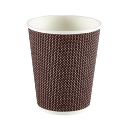 8oz Exclusive Ripple Cup - Brown