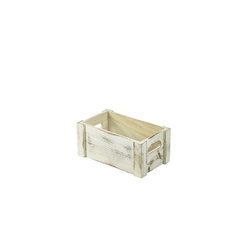 Wooden Crate White Wash Finish 27 x 16 x 12cm (Each) Wooden, Crate, White, Wash, Finish, 27, 16, 12cm, Nevilles