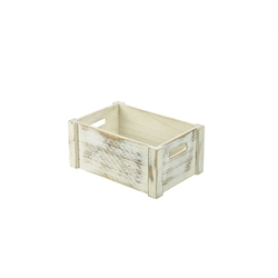 Wooden Crate White Wash Finish 34 x 23 x 15cm (Each) Wooden, Crate, White, Wash, Finish, 34, 23, 15cm, Nevilles