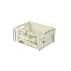 Wooden Crate White Wash Finish 41 x 30 x 18cm (Each) Wooden, Crate, White, Wash, Finish, 41, 30, 18cm, Nevilles