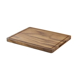 Genware Acacia Wood Serving Board GN 1/2 (Each) Genware, Acacia, Wood, Serving, Board, GN, 1/2, Nevilles