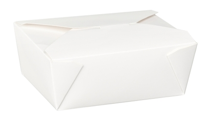 No 8 Dispo-Pak White Food Container (6 x 50 Pack)