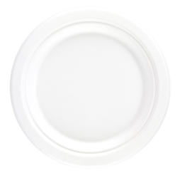 "7"" Bagasse Round Plate (8 x 125 Pack)"