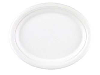 "10"" x 12"" Bagasse Oval Plates (4 x 125 Pack)"