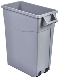 Grey Slim Recycling Bin 65L (Each) Grey, Slim, Recycling, Bin, 65L, Nevilles