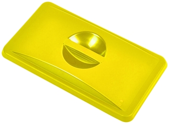 Yellow Closed Lid For Slim Recycling Bin (Each) Yellow, Closed, Lid, For, Slim, Recycling, Bin, Nevilles