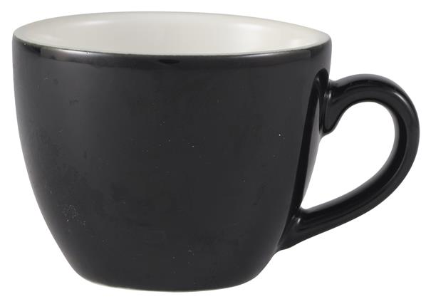 Royal Genware Bowl Shaped Cup 9cl Black (6 Pack) Royal, Genware, Bowl, Shaped, Cup, 9cl, Black, Nevilles