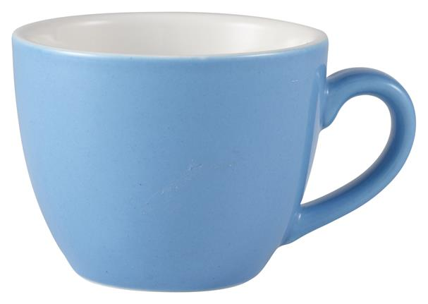 Royal Genware Bowl Shaped Cup 9cl Blue (6 Pack) Royal, Genware, Bowl, Shaped, Cup, 9cl, Blue, Nevilles