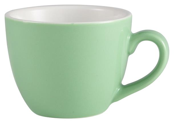 Royal Genware Bowl Shaped Cup 9cl Green (6 Pack) Royal, Genware, Bowl, Shaped, Cup, 9cl, Green, Nevilles