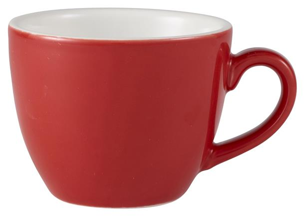 Royal Genware Bowl Shaped Cup 9cl Red (6 Pack) Royal, Genware, Bowl, Shaped, Cup, 9cl, Red, Nevilles