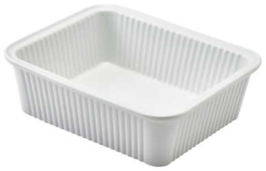 Royal Genware Fluted Rectangular Dish 16 x 13 x 5cm (6 Pack) Royal, Genware, Fluted, Rectangular, Dish, 16, 13, 5cm, Nevilles