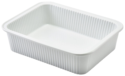Royal Genware Fluted Rectangular Dish 20.5 x 16.5 x 5cm (3 Pack) Royal, Genware, Fluted, Rectangular, Dish, 20.5, 16.5, 5cm, Nevilles