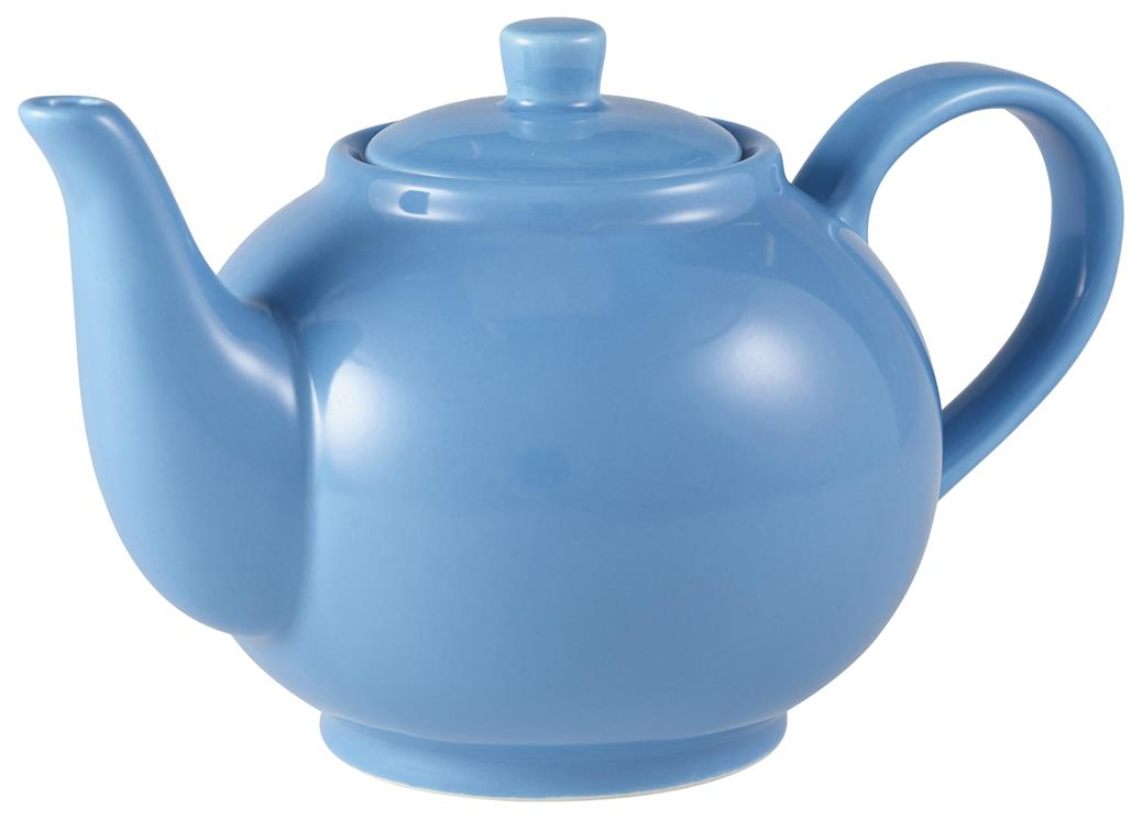 Royal Genware Teapot 45cl Blue (6 Pack) Royal, Genware, Teapot, 45cl, Blue, Nevilles