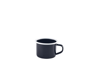 Enamel Mug Black with White Rim 12cl/4.2oz (Each) Enamel, Mug, Black, with, White, Rim, 12cl/4.2oz, Nevilles