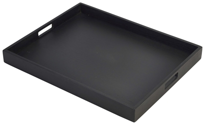 Solid Black Butlers Tray 49 x 38.5 x 4.5cm (Each) Solid, Black, Butlers, Tray, 49, 38.5, 4.5cm, Nevilles