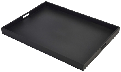 Solid Black Butlers Tray 64 x 48 x 4.5cm (Each) Solid, Black, Butlers, Tray, 64, 48, 4.5cm, Nevilles
