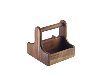 Small Dark Wood Table Caddy (Each) Small, Dark, Wood, Table, Caddy, Nevilles