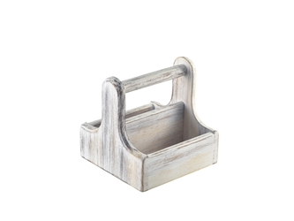 Small White Wooden Table Caddy (Each) Small, White, Wooden, Table, Caddy, Nevilles