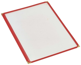 Red American Style A4 Menu Holder - 1 Page (Each) Red, American, Style, A4, Menu, Holder, 1, Page, Nevilles