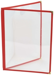 Red American Style A4 Menu Holder - 2 Page (Each) Red, American, Style, A4, Menu, Holder, 2, Page, Nevilles