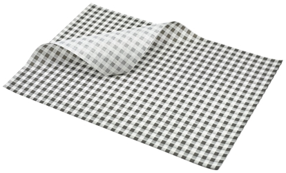 Greaseproof Paper Black Gingham Print 35 x 25cm (Each) Greaseproof, Paper, Black, Gingham, Print, 35, 25cm, Nevilles