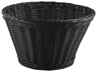 Polywicker Display Basket 26cm Black (Each) Polywicker, Display, Basket, 26cm, Black, Nevilles