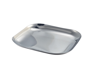 Stainless Steel Square Plate 23.5cm (Each) Stainless, Steel, Square, Plate, 23.5cm, Nevilles