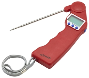 Genware Red Folding Probe Pocket Thermometer (Each) Genware, Red, Folding, Probe, Pocket, Thermometer, Nevilles
