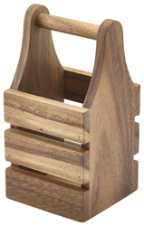 Acacia Wood Cutlery Holder 10 x 10 x 20cm (Each) Acacia, Wood, Cutlery, Holder, 10, 10, 20cm, Nevilles