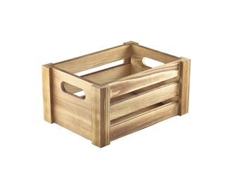 Wooden Crate Rustic Finish 22.8x16.5x11cm (Each) Wooden, Crate, Rustic, Finish, 22.8x16.5x11cm, Nevilles