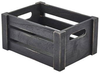 Wooden Crate Black Finish 22.8x16.5x11cm (Each) Wooden, Crate, Black, Finish, 22.8x16.5x11cm, Nevilles