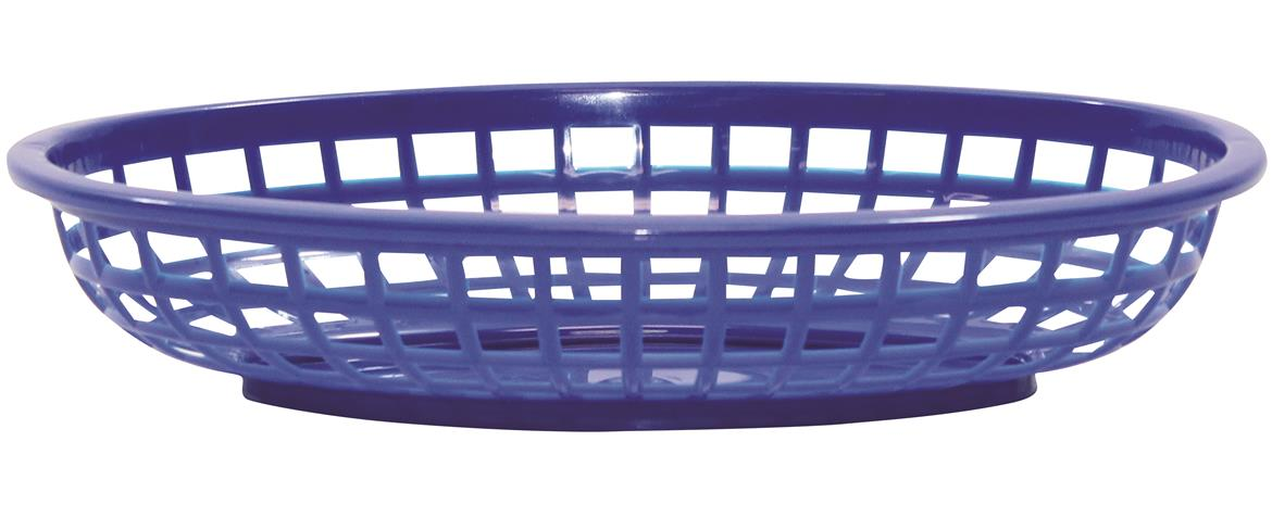 Classic Oval Baskets Hight Density Polyethylene Royal Blue 24x15x5cm (36 Pack)