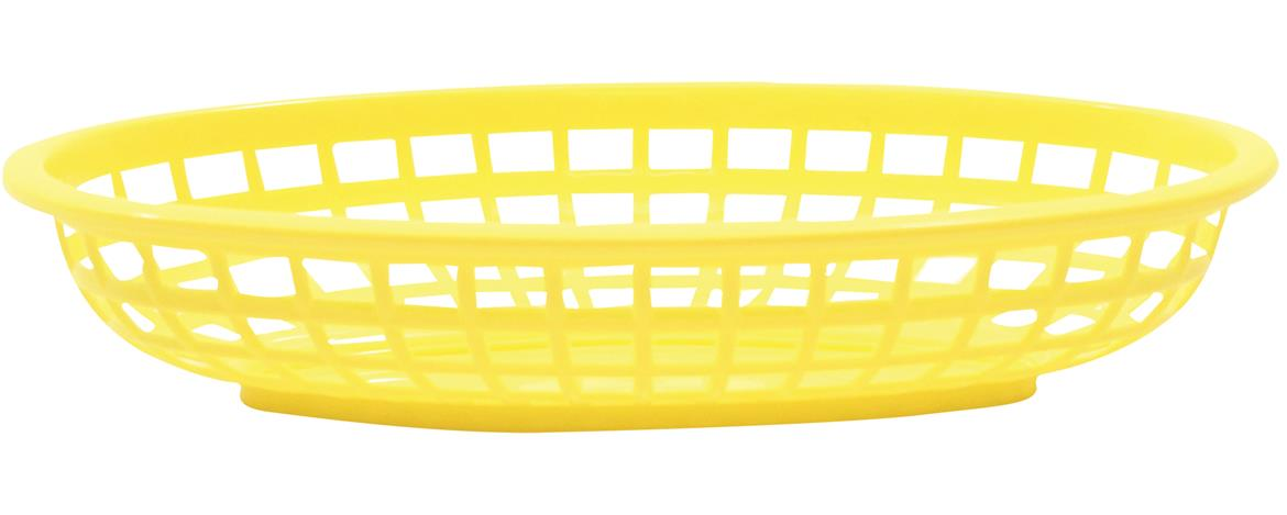 Classic Oval Baskets Hight Density Polyethylene Yellow 24x15x5cm (36 Pack)