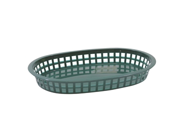 Chicago Platter Baskets Polypropylene Oval Forest Green 27x18x4cm (36 Pack)