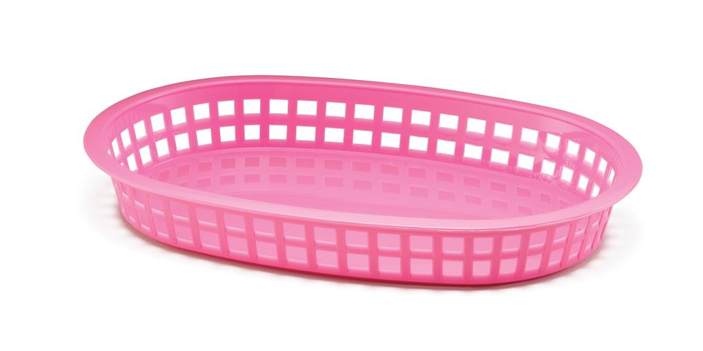 Chicago Platter Baskets Polypropylene Pink 27x18x4cm (36 Pack)