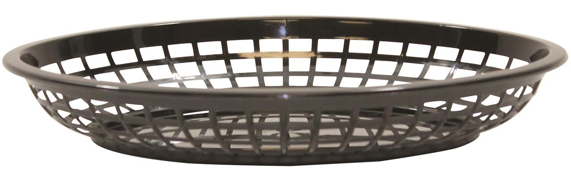Jumbo Oval Baskets Polypropylene Oval Black 30x23x5cm (36 Pack)