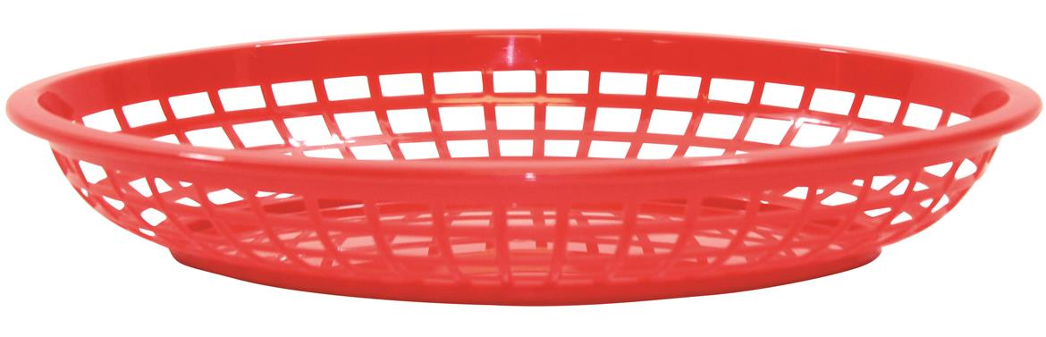 Jumbo Oval Baskets Polypropylene Oval Red 30x23x5cm (36 Pack)