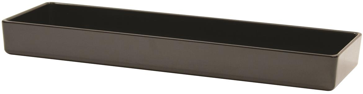 Contemporary Melamine Staight Sided Bowl Black (38x12.5x4cm) 1.5L