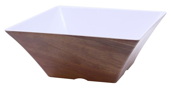 Frostone Acacia Wood Square Bowl