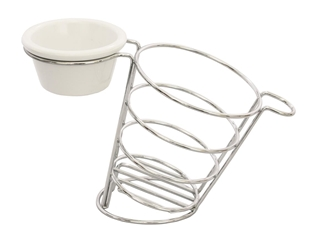 Meranda Collection Side Basket with Ramekin holder (60ml (2oz) or 90ml (3oz) Ramekin)